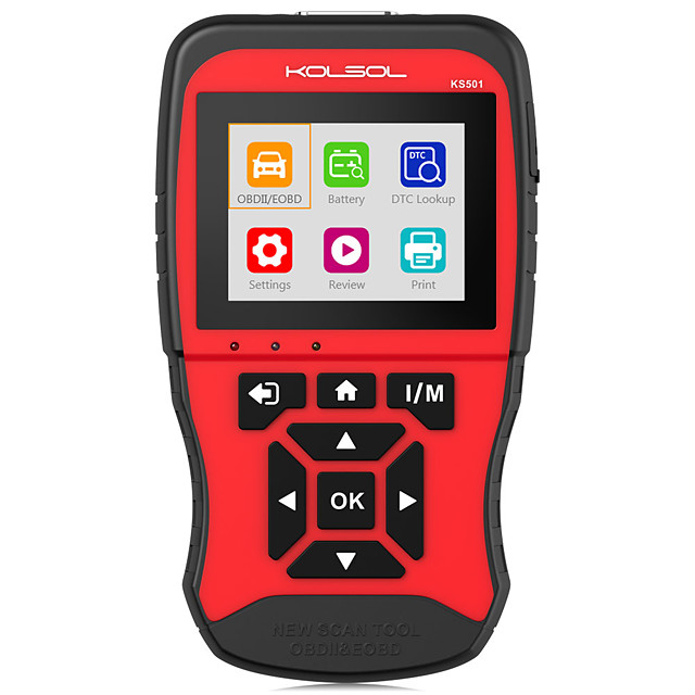 KOLSOL KS501 Automotive Scanner OBDII & EOBD Scan Tool Multilingual Diagnostic Tool for Universal Vehicles with Standard OBD2 protocols 16pin Connector New Generation Code Reader