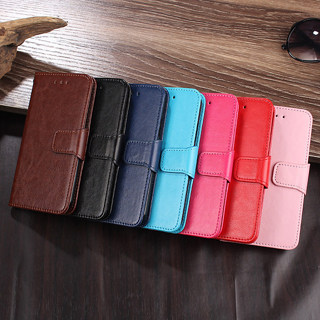 PU Leather Case For Samsung Galaxy Samsung Galaxy A40 Galaxy A70 Card Holder Luxury PU Leather Wallet Case For Samsung Shockproof Case with Stand Back Cover Card Holder