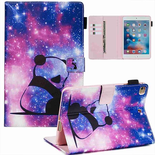 Case For Apple iPad Mini 3/2/1 / iPad Mini 4 / iPad Mini 5 Wallet / Card Holder / with Stand Full Body Cases Panda PU Leather / TPU