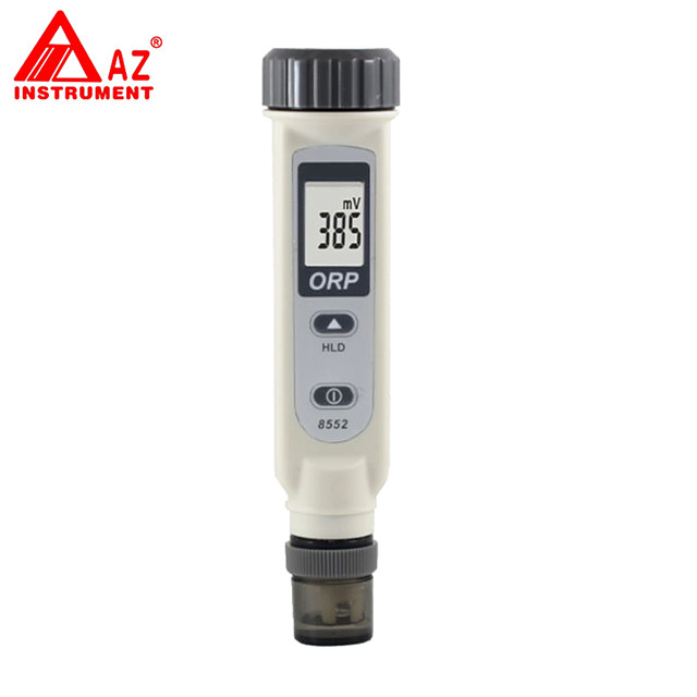 ORP Meter One Touch Big LCD Display Data-hold Auto-off Waterproof Housing AZ8552 Pen Style Water Level Quality Tester Sensor Spa