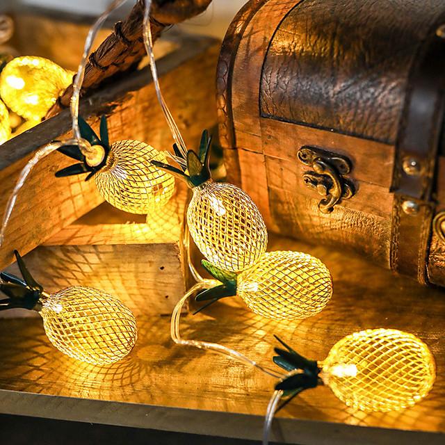 1.5m 10 Beads Decorative Party Wedding Garden Led Light Strings Atmosphere Arrangement Iron Art Retro Pineapple Lamp