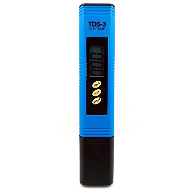 TDS-3 Digital TDS Meter 0-9990ppm Water Filter Water Quality Purity Tester Pen(Blue)