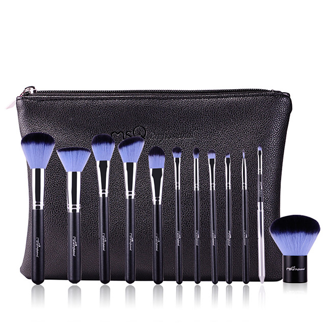 Professional Makeup Brushes 12pcs Professional Soft Full Coverage Artificial Fibre Brush Wooden / Bamboo for Eyeliner Brush Blush Brush Foundation Brush Makeup Brush Lip Brush Eyeshadow Brush
