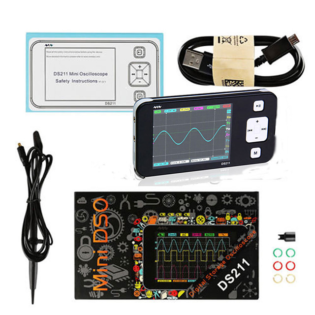 MINI DS211 DS211 ARM Nano Pocket Portable Digital Oscilloscope