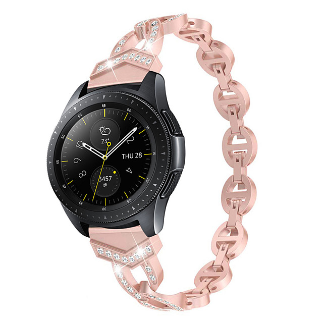 20mm/22mm Women Diamond Bracelet for Huawei Watch GT2 46mm Huawei Watch GT2 42mm Huawei Watch GT 2e Huawei Quick Release Strap Metal Wrist Belt