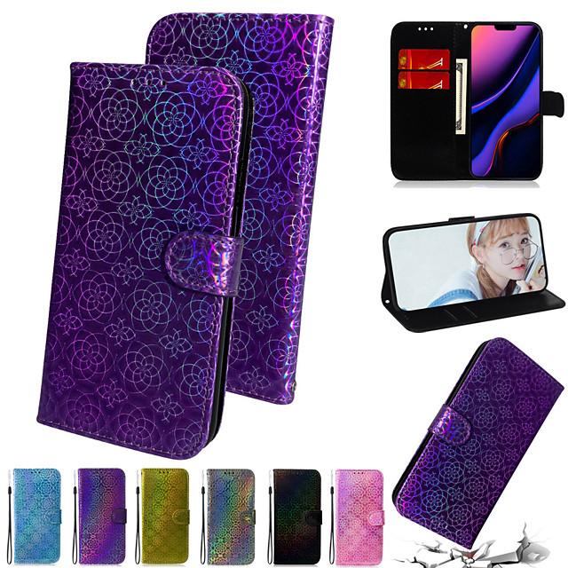 Gradient Colorful PU Leather Phone Case For Samsung J4 6 Plus J5 M10 20 30S 31 11 Card Slot Flip Wallet Cover