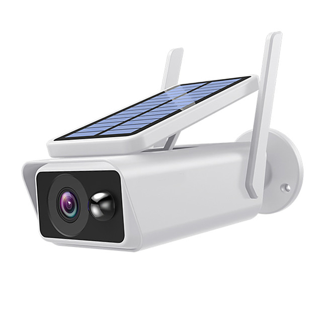 Xmeye icsee APP Wide View surveillance camera Solar panel Rechargeable Battery 1080P Full HD Outdoor Indoor Security WiFi IP CameraBattery(Not INCLUDED)