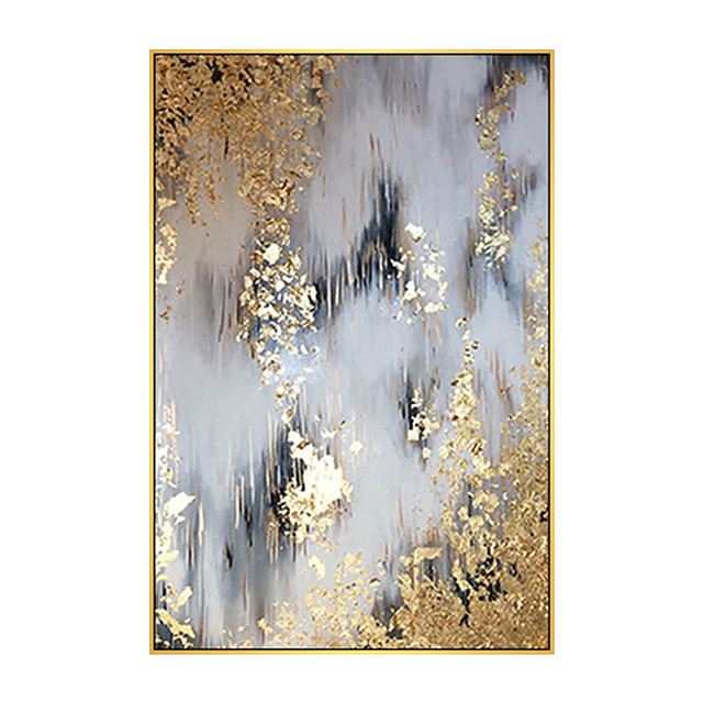 100% Hand painted By Professional Artist 2020 Handmade Abstract Landscape Oil Painting On Canvas Living Room Home Decor Gold Art