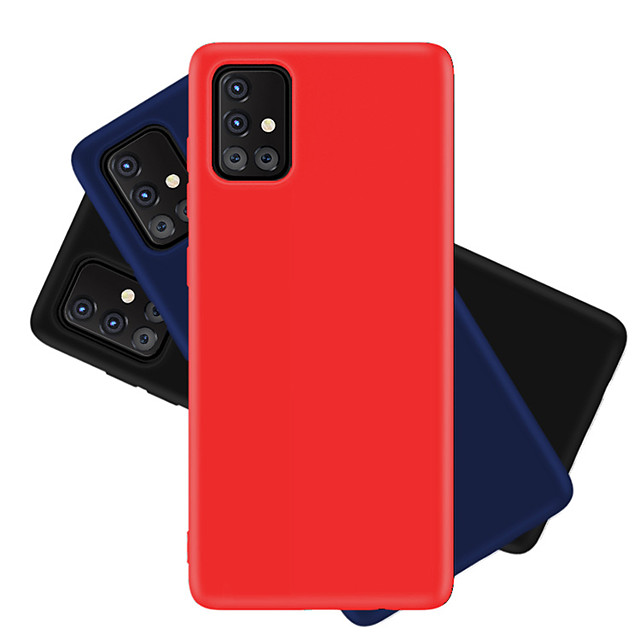 Case For Samsung  Galaxy S10 Lite  S20 S20Plus S20 Ultra Galaxy A30S A50S A50 A90 5G  A70S A51 4G A71 4G A91 A81 M30S M10S Note 10 Lite Shockproof Back Cover Solid Colored Silicone
