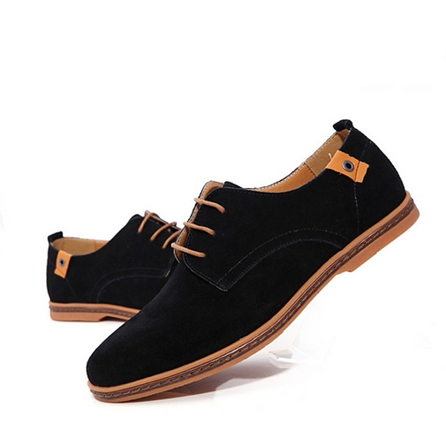 Men's Summer Daily Oxfords Suede Black / Blue / Green