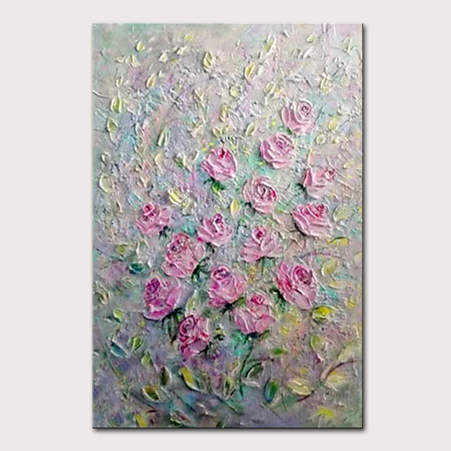 Mintura Hand Painted Modern Abstract Knife Flowers Oil Paintings on Canvas Wall Picture Pop Art Posters For Home Decoration Ready To Hang