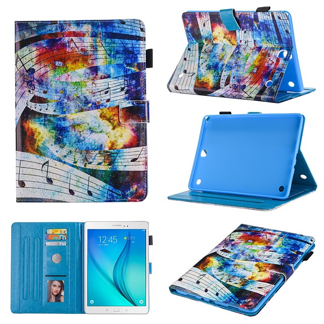 Case For Samsung Galaxy Samsung TAB A 8.0  T380 T377 T350  360 Rotation  Shockproof  Magnetic Full Body Cases Animal  Cartoon Flower PU Leather