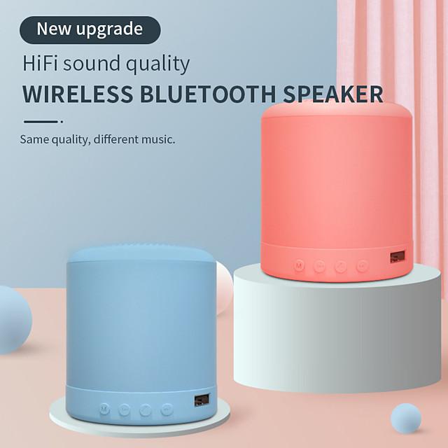 Mini Portable Bluetooth Speaker Macaron Stereo Wireless Speaker Music Waterproof Loudspeaker Outdoor Bathroom Showers Subwoofer