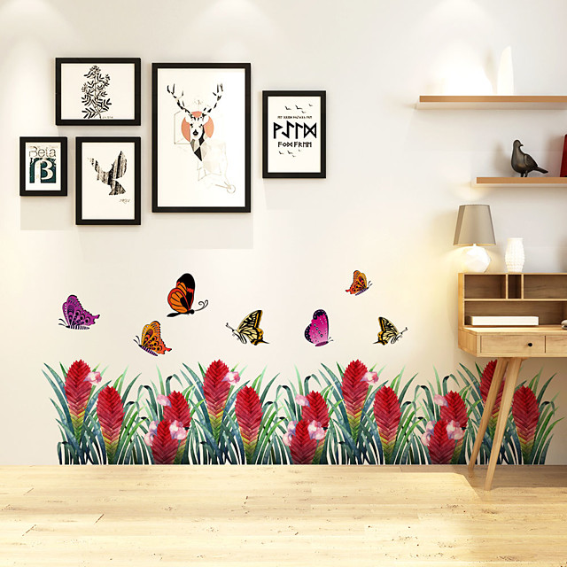 Butterfly Wall Stickers Decorative Wall Stickers, PVC Home Decoration Wall Decal Wall Decoration / Removable