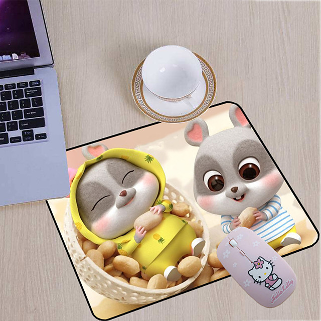 210*260*3mm 210*260*3 mm Gaming Mouse Pad / Basic Mouse Pad / Natural / Office Use Rubber / Cloth Dest Mat