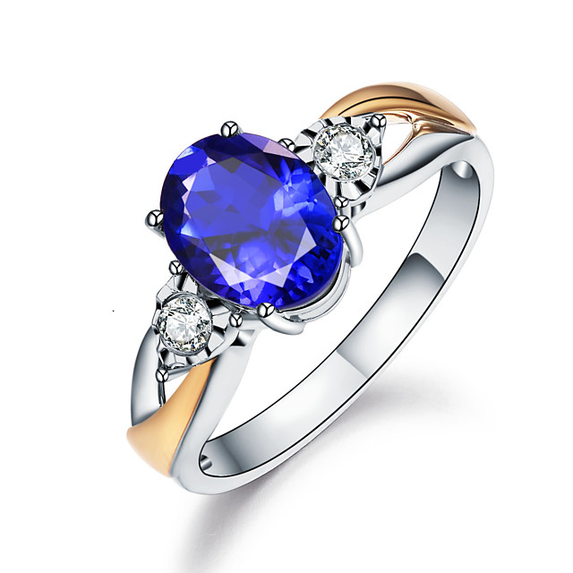 Women's Ring Cubic Zirconia 1pc White Gold Alloy Round Luxury Vintage Wedding Engagement Jewelry Lovely