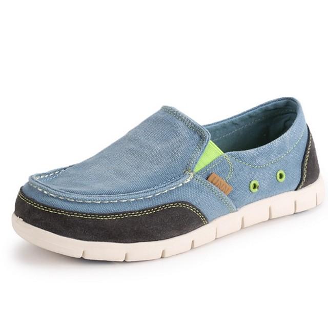 Men's Summer Daily Loafers & Slip-Ons Mesh Blue / Light Grey / Dark Blue Color Block