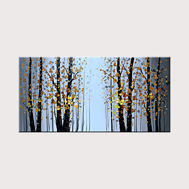 Landscape Oil Painting Canvas Texture Tree Abstract Contemporary Art Wall Painting Manual Painting Home Office Decoration Canvas Wall Art Painting