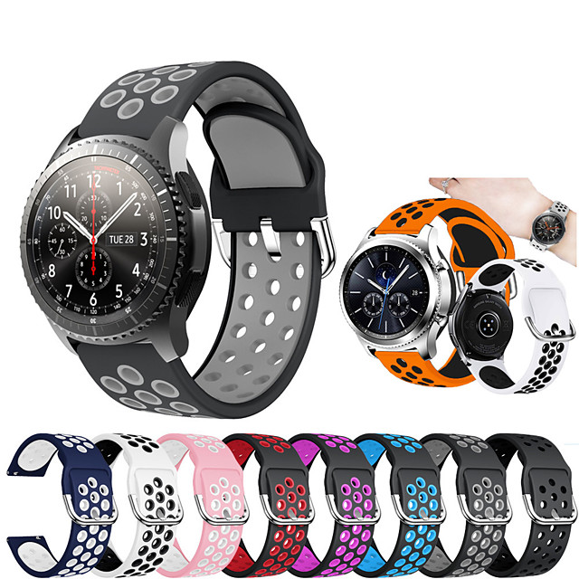 Silicone Wrist Strap Watch Band for Samsung Galaxy Watch 46mm / Gear S3 Classic / Gear S3 Frontier Replaceable Bracelet Wristband