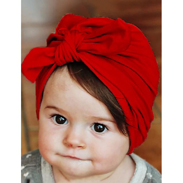 Bébé Para Meninos / Para Meninas Algodão Capéus e Bonés Branco / Roxo / Rosa Tamanho Único / Elásticos de Cabelo