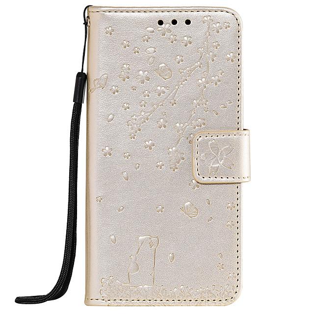 Case For Sony Sony Xperia Z5 / Xperia XA2 / Sony Xperia XZ1 Card Holder / Flip / Pattern Full Body Cases Heart / Flower PU Leather / TPU