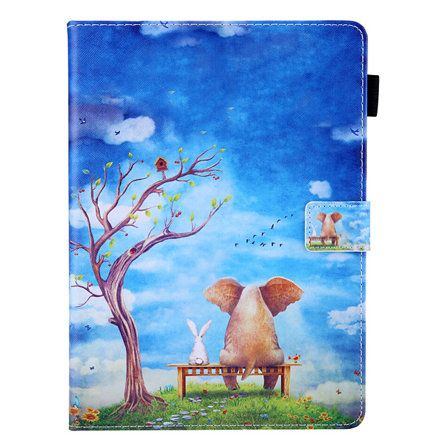 Case For Samsung Galaxy Galaxy Tab A 10.5 T595 T590 360 Rotation  Shockproof  Magnetic Full Body Cases Word Phrase  Butterfly  Panda PU Leather  TPU