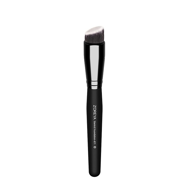 Professional Makeup Brushes 1 Piece Soft Comfy Synthetic Hair Wood for Foundation Brush