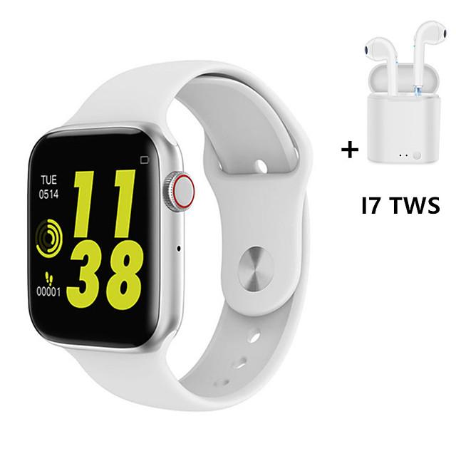 W36 1.54 Full Touch Smart Watch Men Women Heart Rate Fitness Monitor Bluetooth Series 4 iw8 Smartwatch With i7s TWS Wireless Earphones Bluetooth Headphones