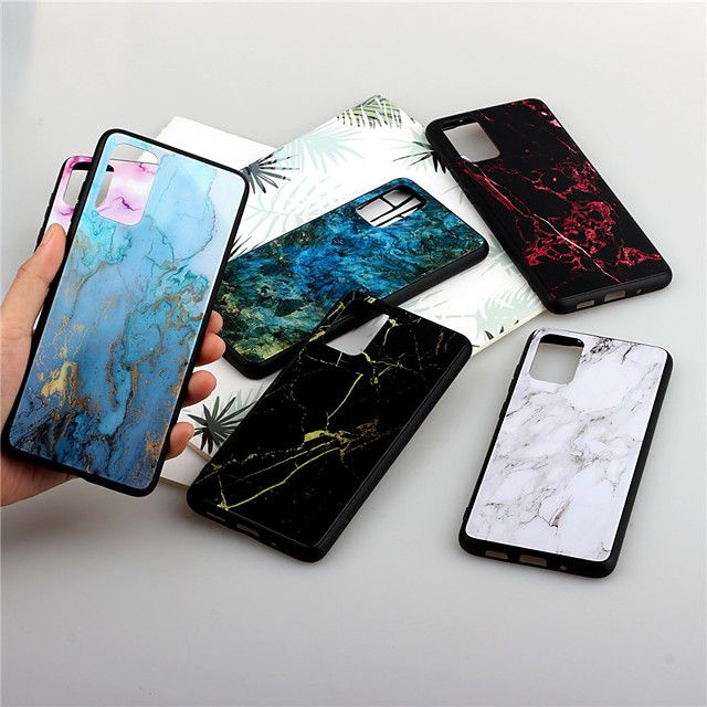 Case For Samsung Galaxy S9 / S9 Plus / Galaxy S10 Shockproof Back Cover Solid Colored TPU / Plastic