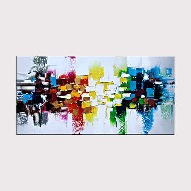 Handmade Colorful Textured Abstract Wall Art Modern Oil Painting Artwork