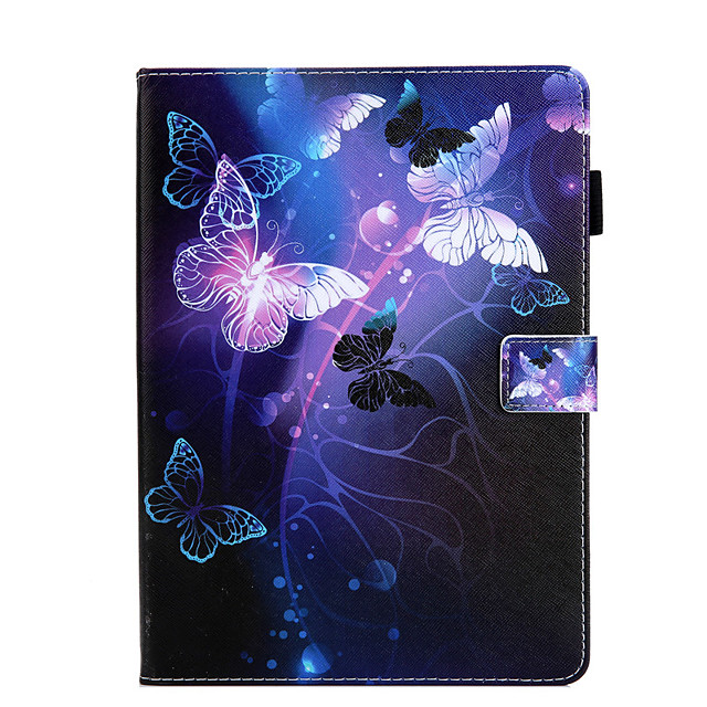 Case For Apple iPad Mini 3 2 1  iPad Mini 4  iPad Mini 5 360 Rotation  Shockproof  Magnetic Full Body Cases Word  Phrase  Butterfly Panda PU Leather  TPU