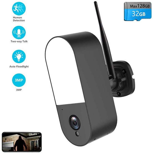 Floodlight IP Camera HD 3MP Waterproof Outdoor LED Lamp IP Camera P2P WiFi Security Camera CCTV Surveillance Camera
