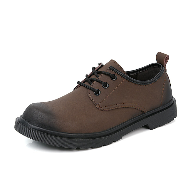 Men's Fall Classic Daily Oxfords Cowhide Breathable Non-slipping Black / Brown