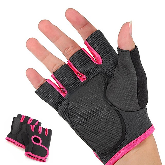 Workout Gloves Weight Lifting Gloves 2 pcs Sports Mixed Material Yoga Fitness Exercise & Fitness Built-In Wrist Wraps Strength Training Foam Pad Breathable Weight Loss Grip Strength Trainer For Men