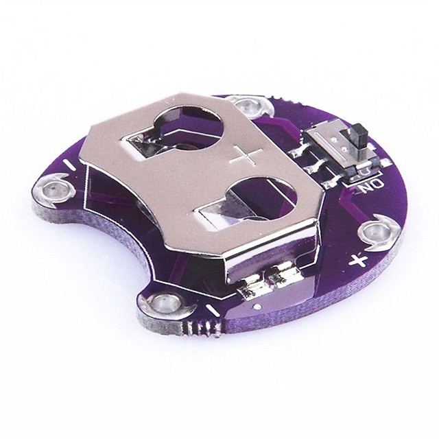LilyPad Coin Cell Battery Holder CR2032 Battery Mount Module For Arduino
