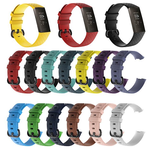 Watch Band for Fitbit Charge 3 / Fitbit Charge 4 Fitbit Sport Band Silicone Wrist Strap