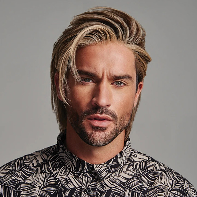 Synthetic Wig Toupees kinky Straight Short Bob Wig Short Brown Synthetic Hair 8 inch Men's Fashionable Design Highlighted / Balayage Hair Exquisite Brown