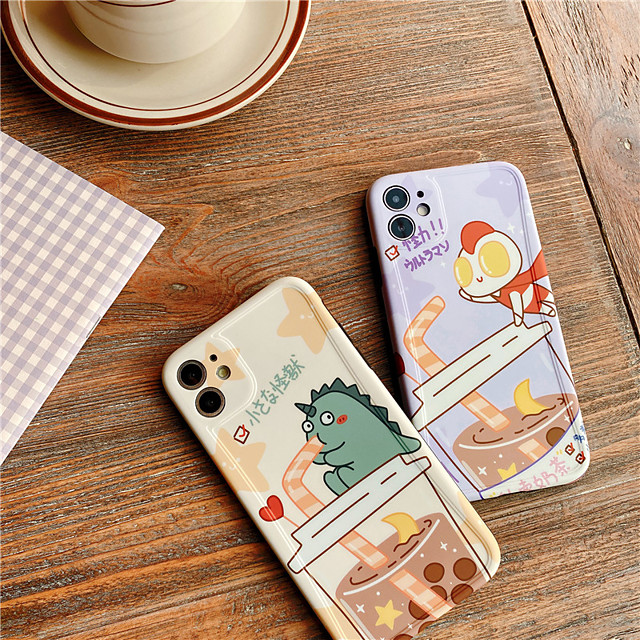 Cartoon Dinosaur Couple Phone Cases For iphone 7 8 plus SE 2020 11 Pro X XS Max XR Cute Dragon Soft Back Cover Case Funda Capa