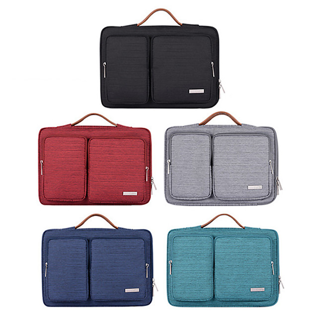 10 Inch Laptop / 11.6 Inch Laptop / 12 Inch Laptop Sleeve / Shoulder Messenger Bag / Briefcase Handbags Polyester Simple / Solid Colored Unisex Waterpoof Shock Proof