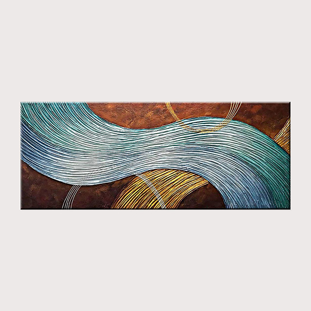 Hand-Painted Abstract Canvas Wall Art Modern Texture Oil Painting Contemporary Art Rolled Without Frame