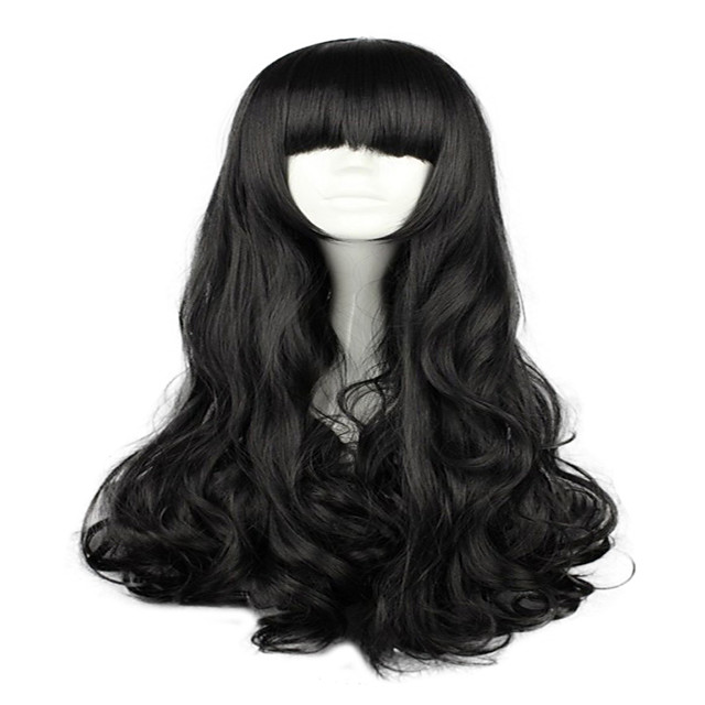 Cosplay Costume Wig Synthetic Wig Cosplay Wig Blake Belladonna RWBY Body Wave Neat Bang Wig Long Natural Black Ombre Pink Purple Orange Synthetic Hair 28 inch Women's Cosplay Black hairjoy