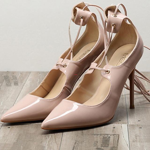 Women's Heels Summer Stiletto Heel Pointed Toe Daily PU Nude / White / Black