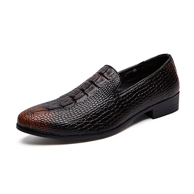 Men's Summer Daily Loafers & Slip-Ons PU Black / Brown