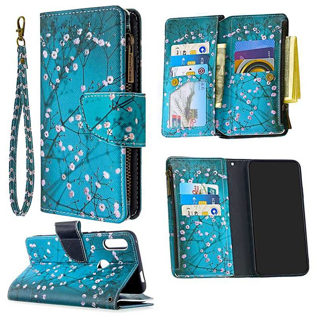 Case For Huawei  P30 Lite Honor 10 Lite 8A 9A 9S 9X Lite P40 Lite E Y5P Y6P Y7P Wallet Card Holder with Stand Full Body Cases Flower PU Leather Huawei P Smart Z P Smart 2020 Y9 Prime 2019
