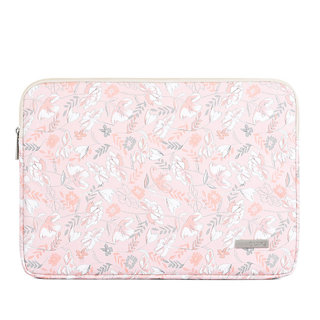 13.3 Inch Laptop / 14 Inch Laptop / 15.6 Inch Laptop Sleeve PU Leather Leaf for Women for Business Office for Colleages & Schools Waterpoof Shock Proof
