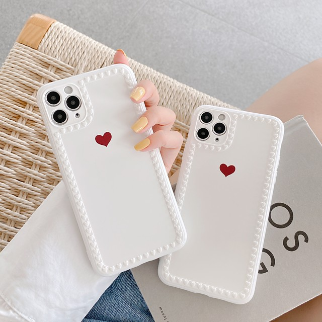Case For Apple Scene Map iPhone 11 11 Pro 11 Pro Max Love Photo Frame Series Small Love Pattern TPU Material IMD Craft Glossy Phone Case