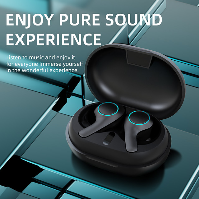 LITBest PT05 TWS Earbuds Wireless Headphones Bluetooth V5.0 Earphones Touch Control 9D HiFi Stereo Sports Headset with Type-C Charging Port