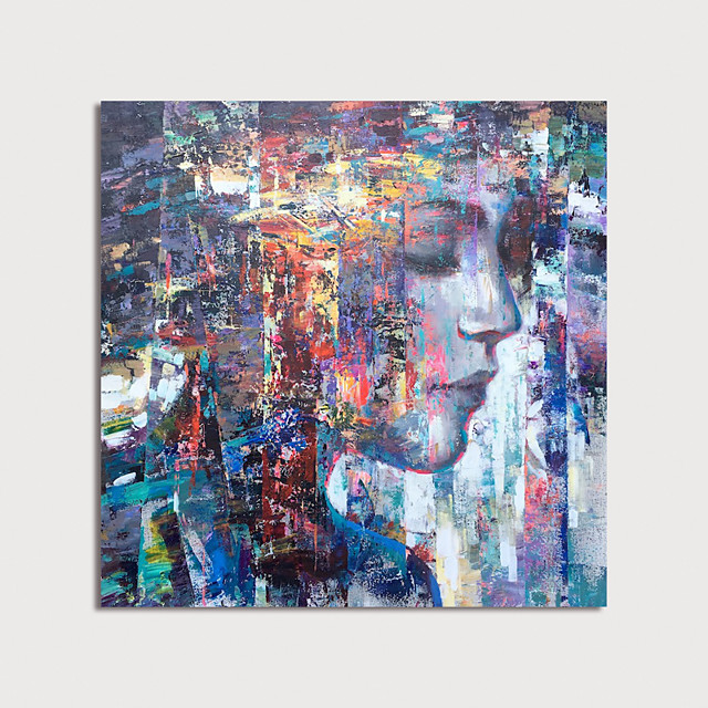 Hand Painted Canvas Oilpainting Abstract People by Knife Home Decoration with Frame Painting Ready to Hang