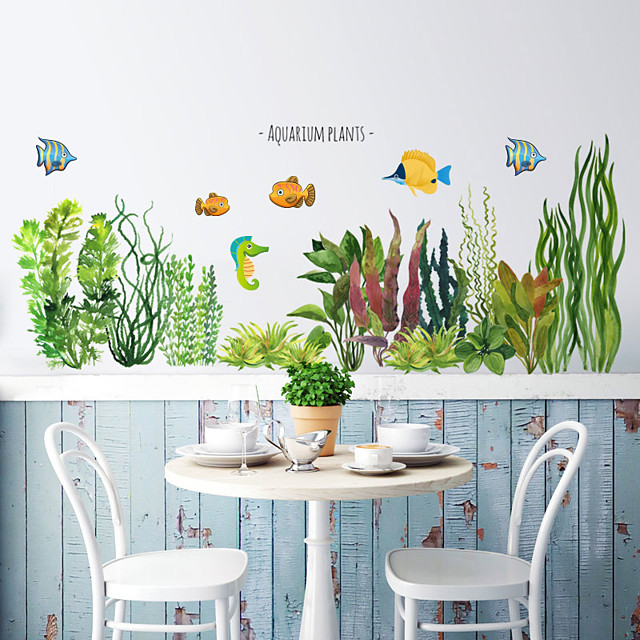 Green Grass Wall Stickers Decorative Wall Stickers, PVC Home Decoration Wall Decal Wall Decoration / Removable