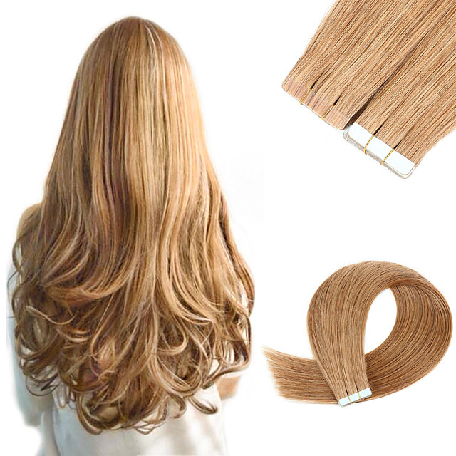 Tape In Hair Extensions Remy Human Hair Skin Wefts 20pcs 50 g Pack Straight Hair Extensions